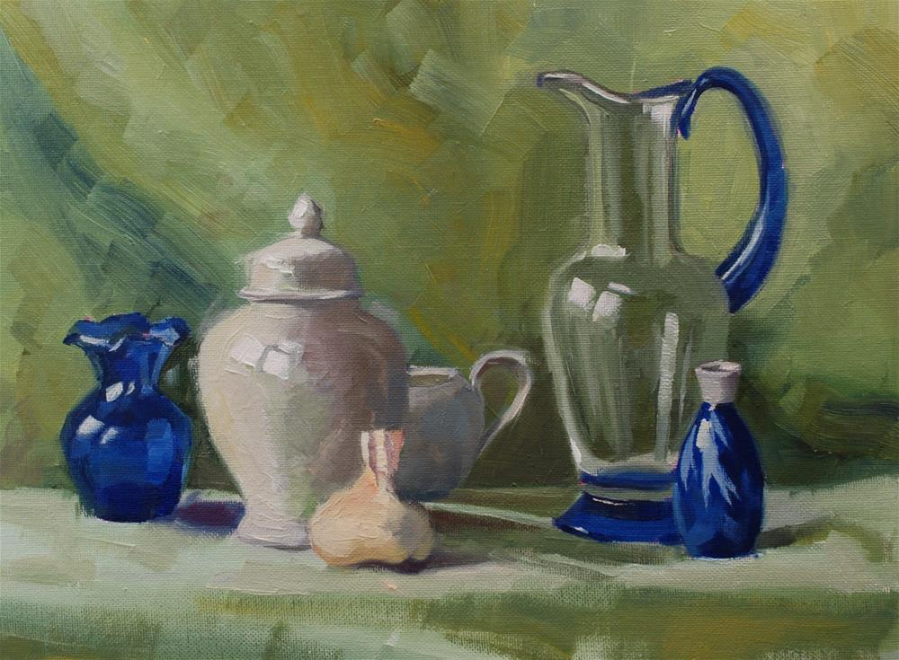 """A Cool Still Life"" original fine art by Susan McManamen"