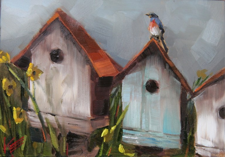 """Master of the House"" original fine art by Krista Eaton"