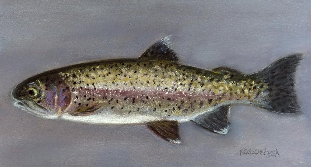 """Rainbow Trout"" original fine art by Cristine Kossow"