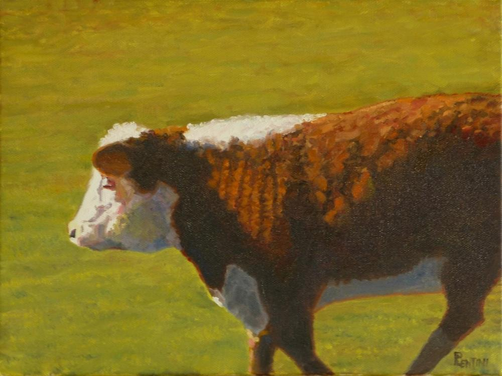 """Cow Series 3: Study 1"" original fine art by Peter Lentini"