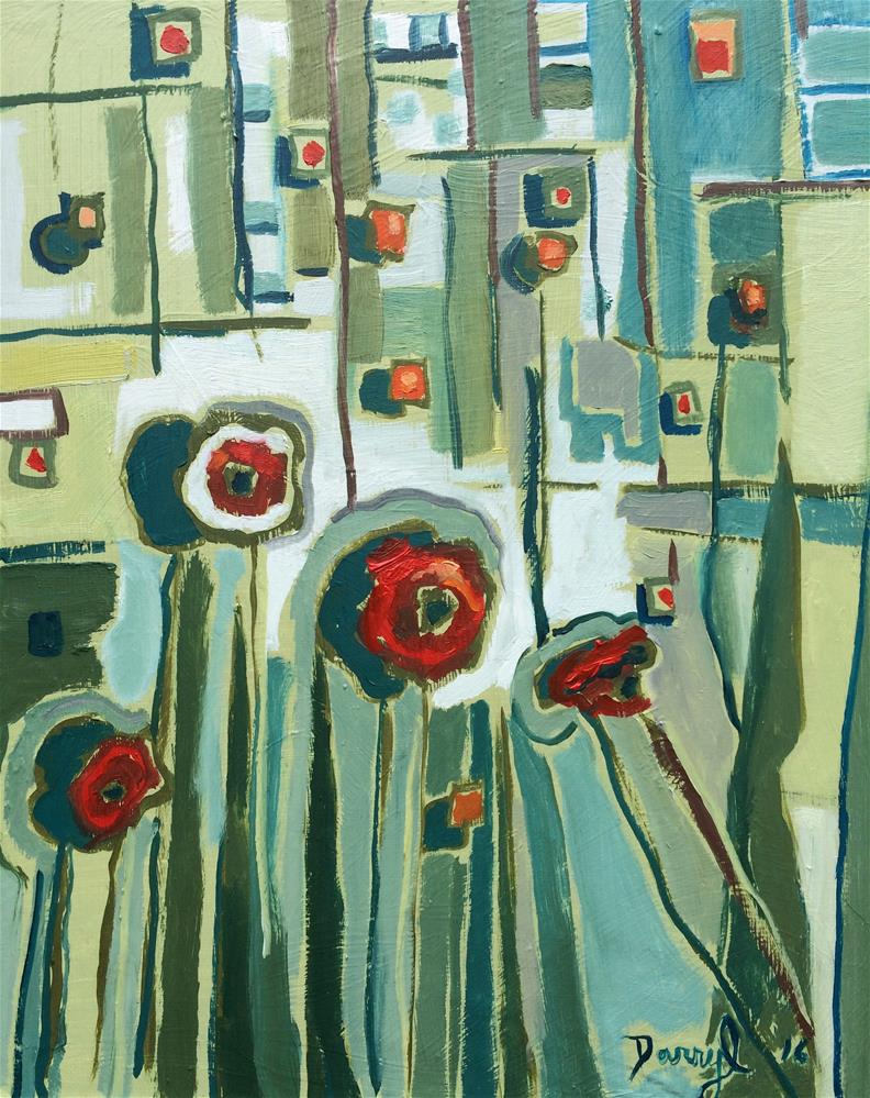 """Red Poppies"" original fine art by Darryl Freeman"