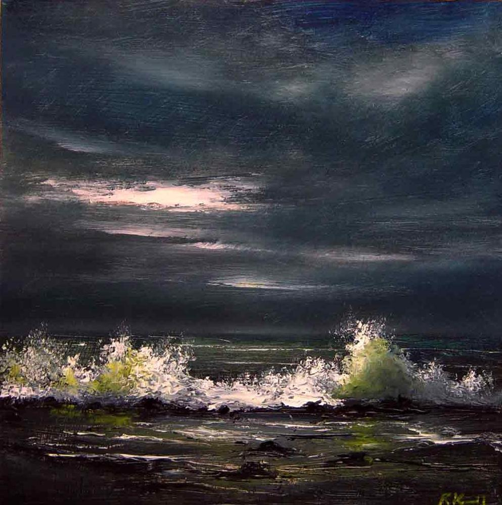 """Rocky Shore"" original fine art by Bob Kimball"