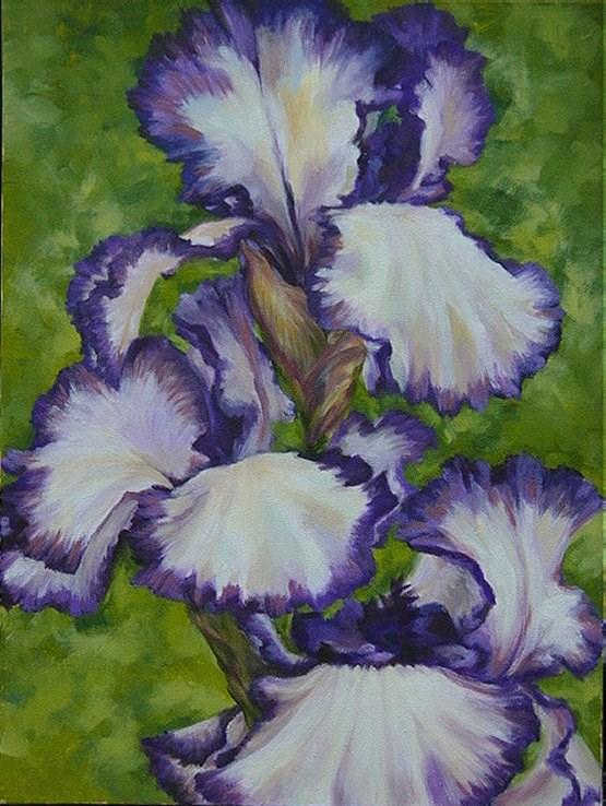"""Purple Irises"" original fine art by Maria Levandowski"