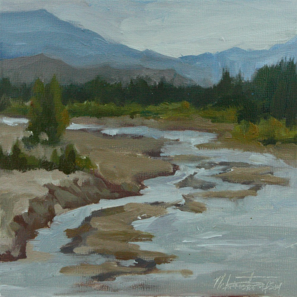 """Roadside Creek, Alaska"" original fine art by Melanie Thompson"