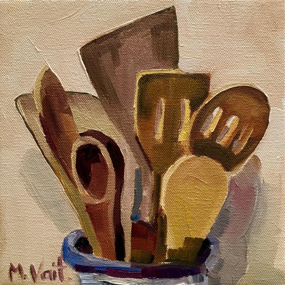 """Spatulas"" original fine art by Milda Vaitiekunaite"