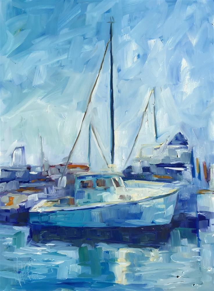 """Sausalito Sailboat"" original fine art by Hallie Kohn"