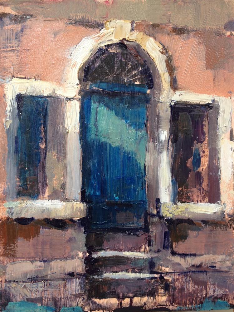 """""""Venice doorway"""" original fine art by Mo Teeuw"""