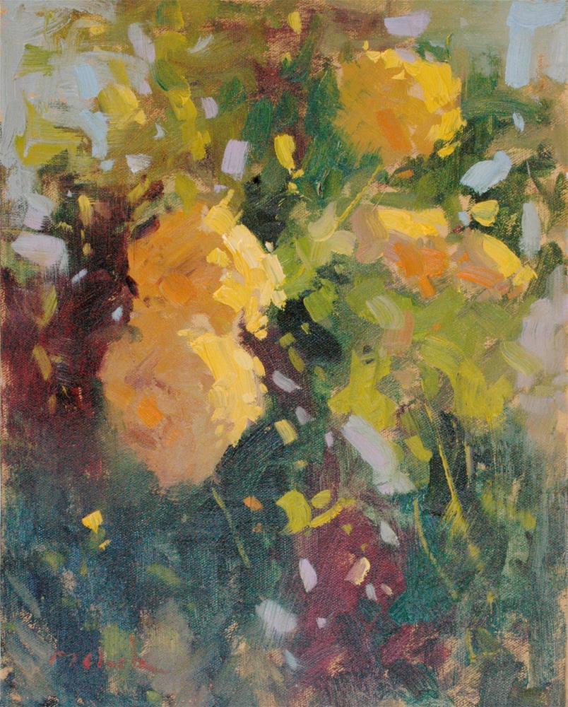 """Yellow Flowers"" original fine art by michael clark"