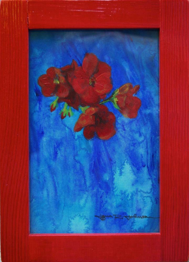 """Geranium Dreams"" original fine art by Jana Johnson"