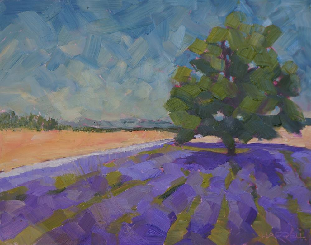 """Lavender Lake Farm"" original fine art by Sue Harrell"