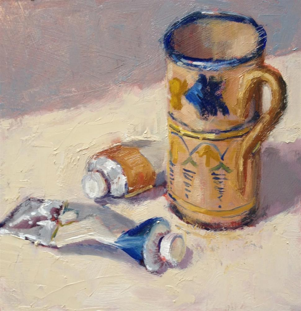 """Day 5 0f 30 Odd Mug"" original fine art by Mo Teeuw"