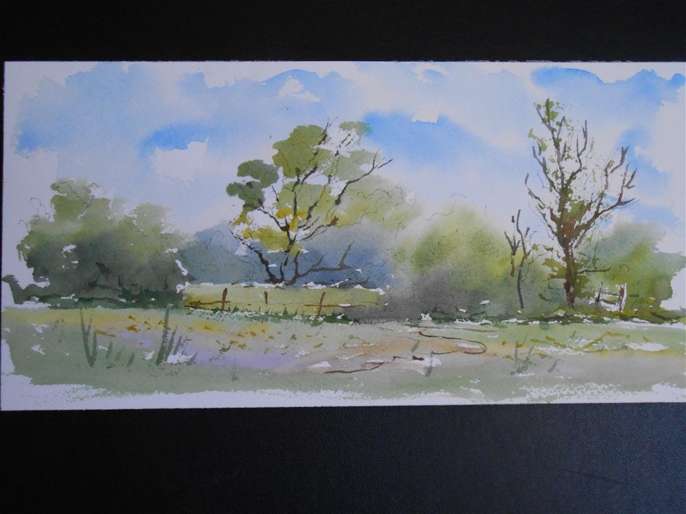 """Peaceful morning"" original fine art by Graham Findlay"