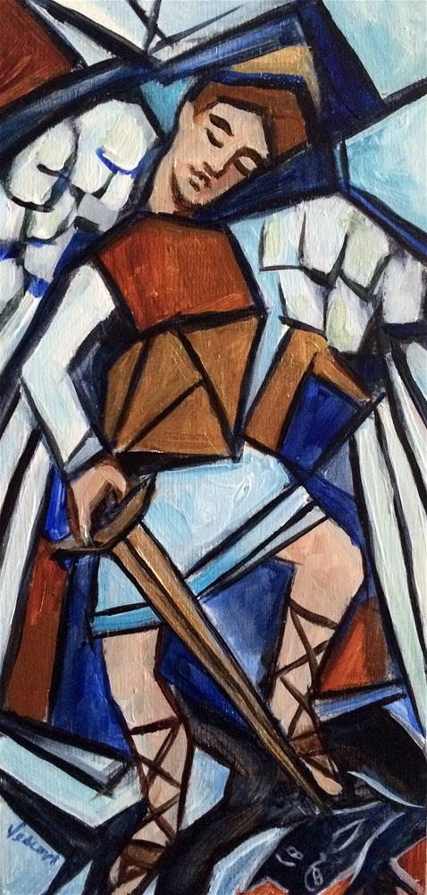 """St. Michael"" original fine art by Valerie Vescovi"