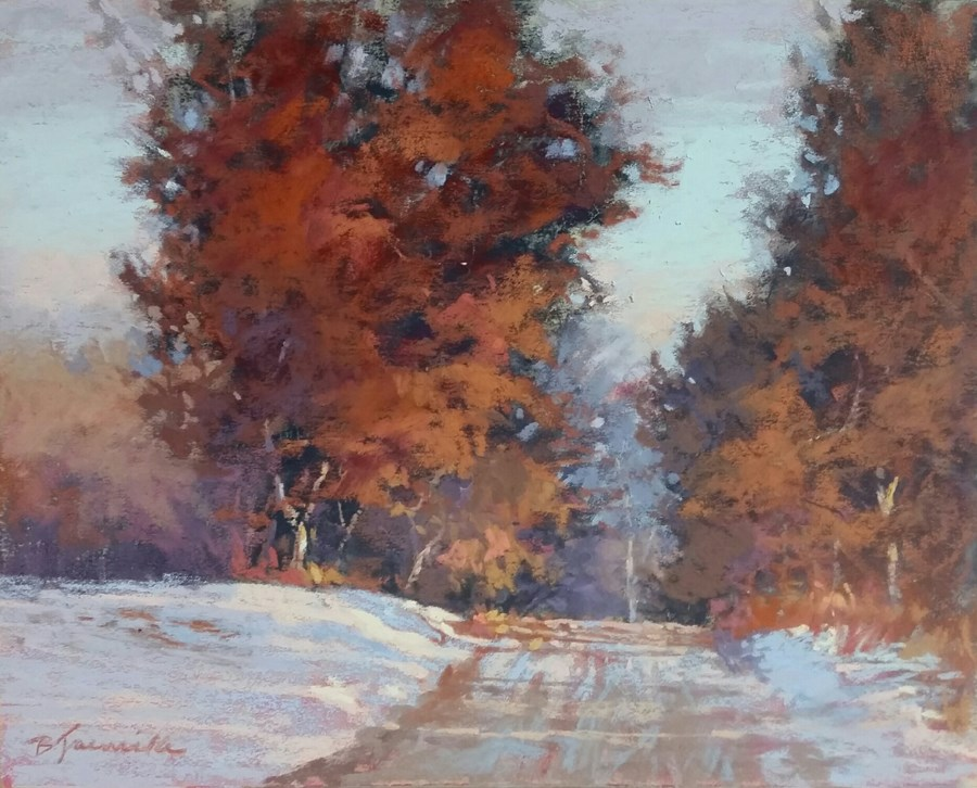 """Narrow Slope"" original fine art by Barbara Jaenicke"