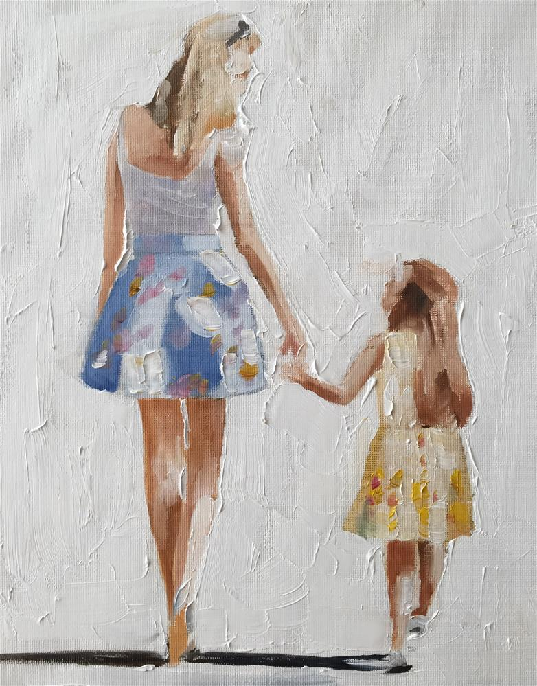 """Mother and Child"" original fine art by James Coates"