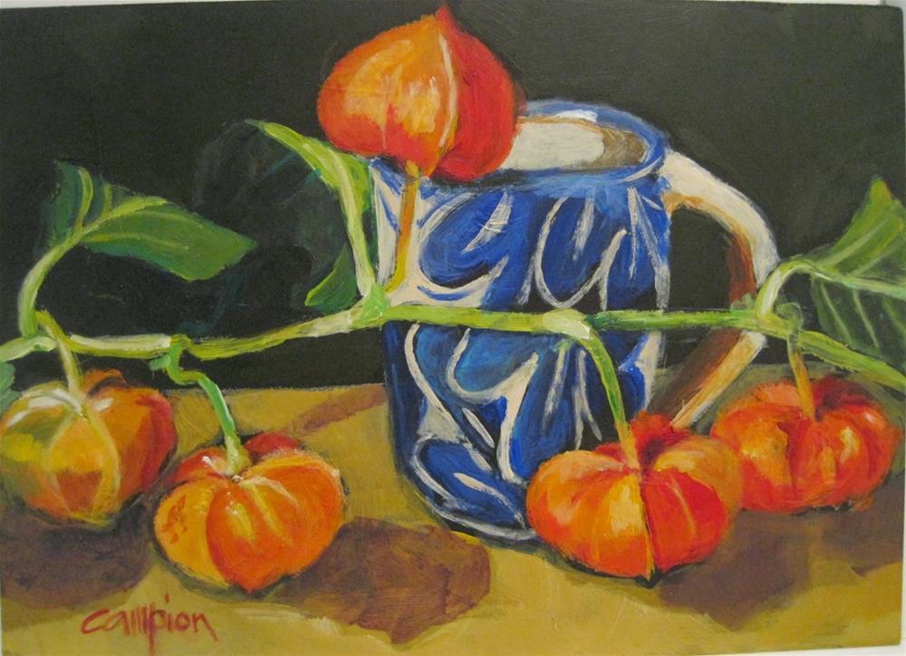 """""""464 Tipping Point"""" original fine art by Diane Campion"""
