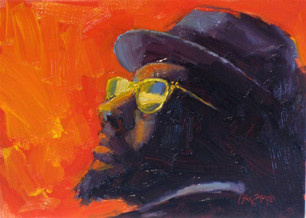 """Thelonious"" original fine art by Dan Graziano"