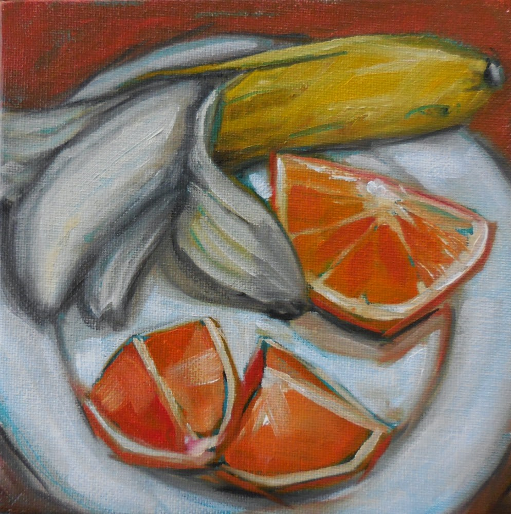 """Ruby Red Oranges"" original fine art by Beth Moreau"