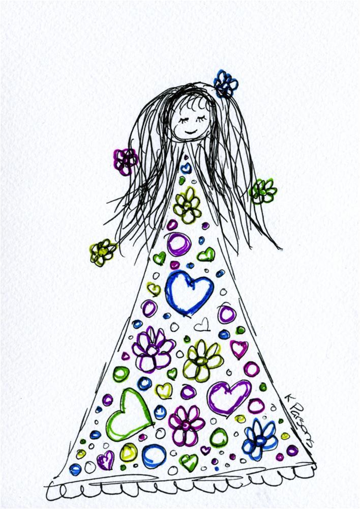 """""""Flower Child"""" original fine art by Kali Parsons"""