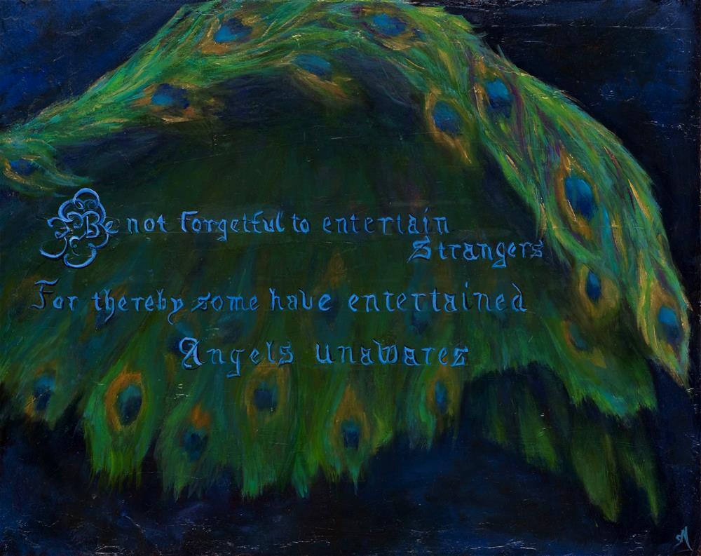 """""""Entertaining Angels"""" original fine art by Susie Monzingo"""
