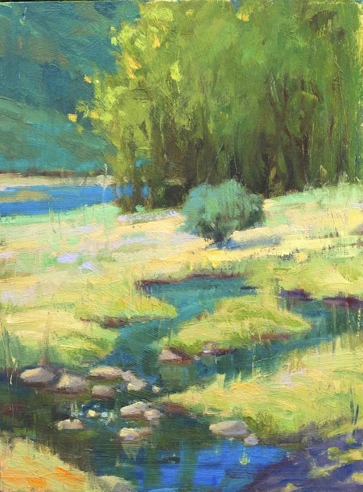 """Murmur of the Creek"" original fine art by Emiliya Lane"