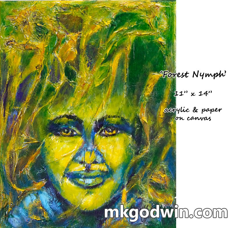 """Forest Nymph"" original fine art by Marie K Godwin"