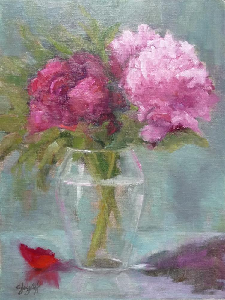 """Time for Pink"" original fine art by Carol Josefiak"