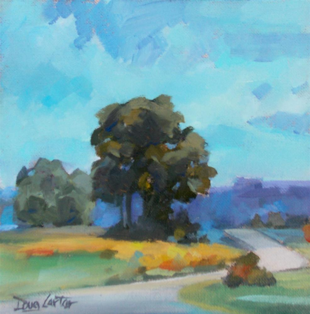 """DISTANT ROAD"" original fine art by Doug Carter"