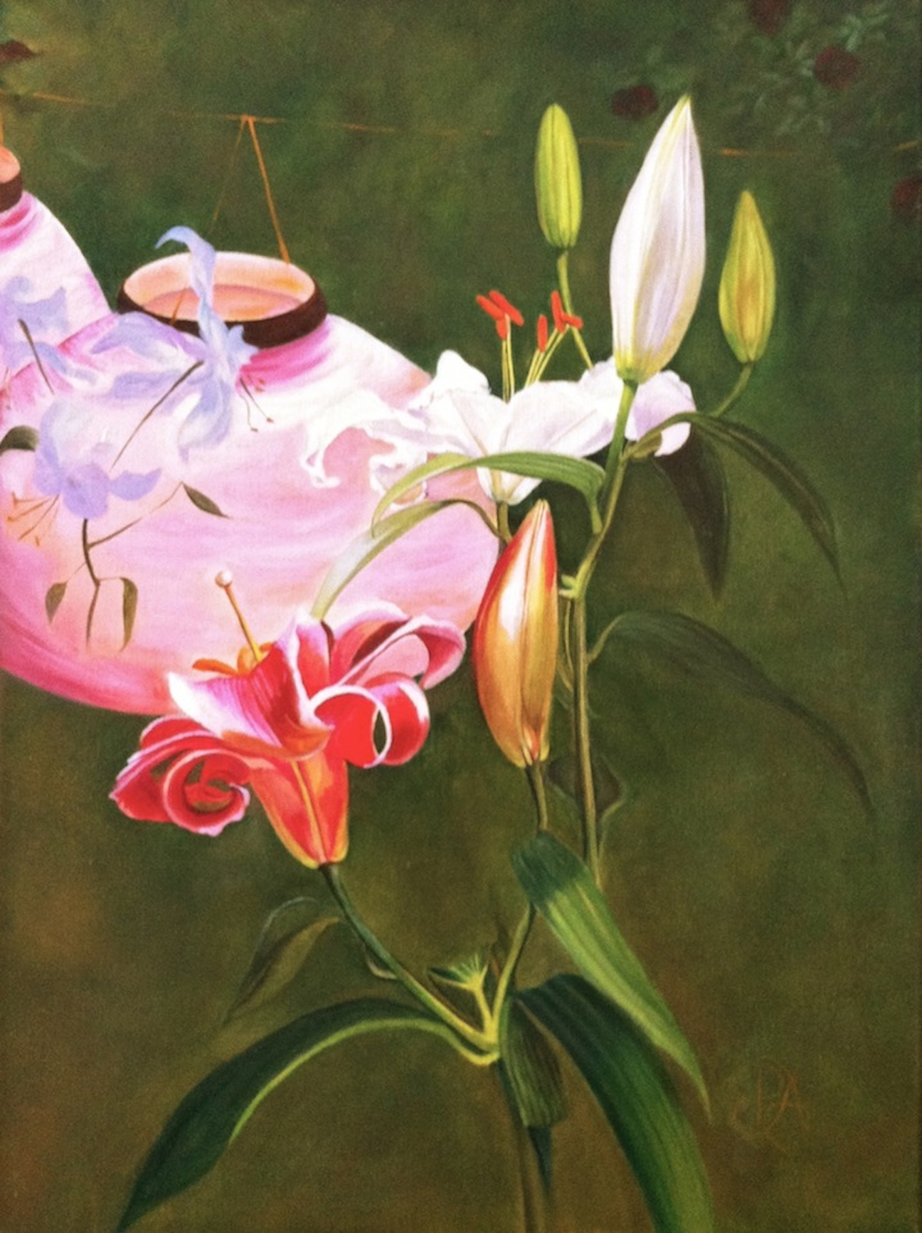 """Lily, Lily, Rose: A Tribute to Mr. Sargent"" original fine art by Patti Adams"