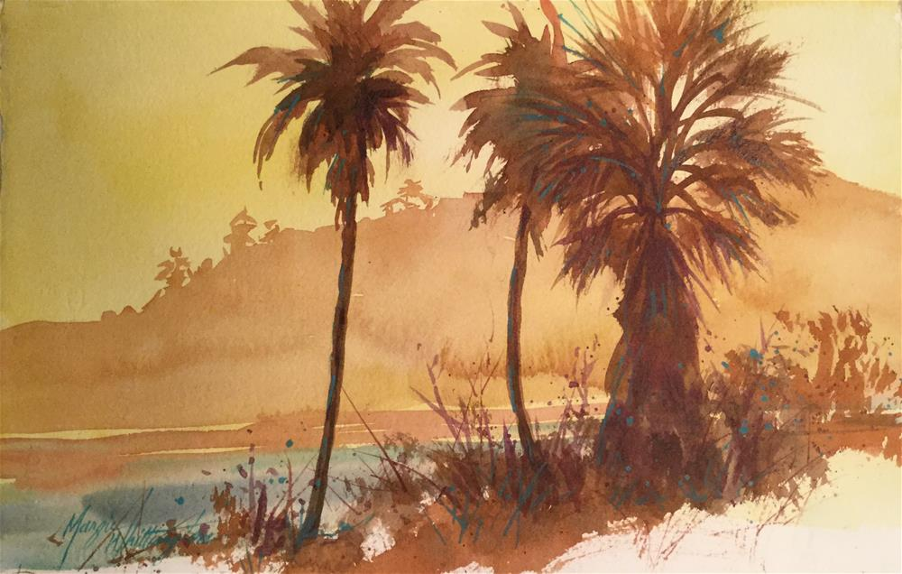 """Island palms"" original fine art by Margie Whittington"