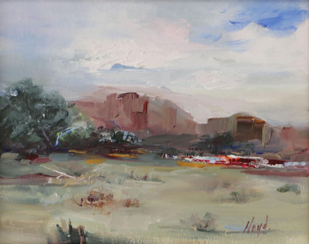 """Ranch on Apache Trail"" original fine art by Diane Lloyd"
