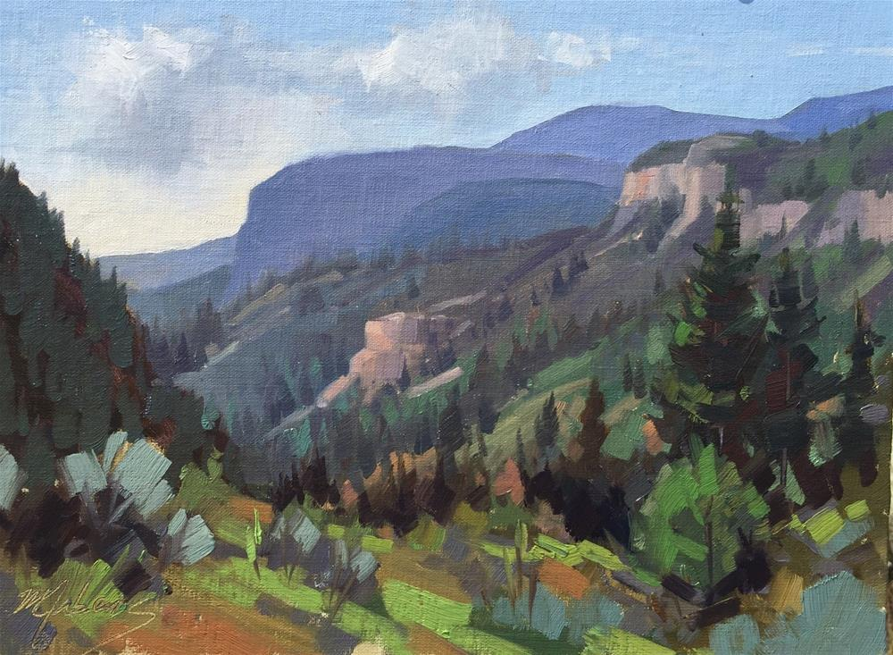 """Morning Atmosphere - Cedar Canyon"" original fine art by Mary Jabens"