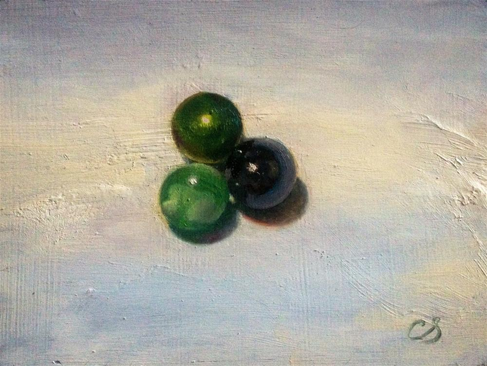 """Three Marbles"" original fine art by Claudia Selene"
