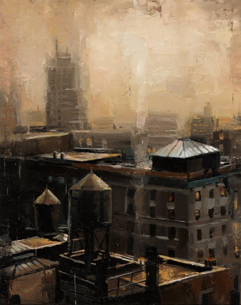 """NYC Rooftop"" original fine art by Victor Bauer"