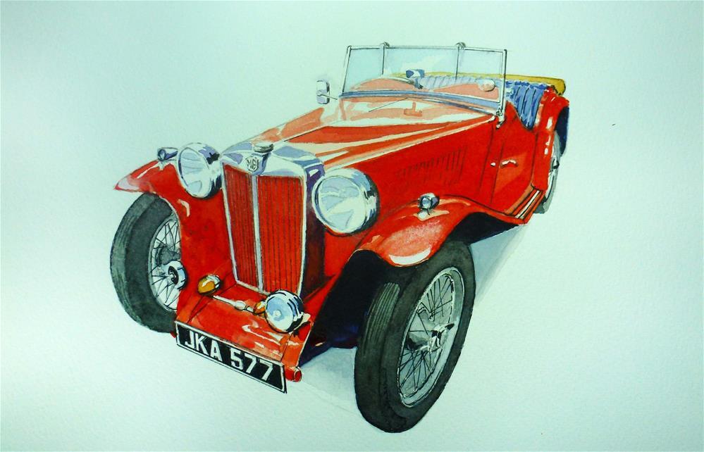 """MG Sports Car"" original fine art by John Monney"