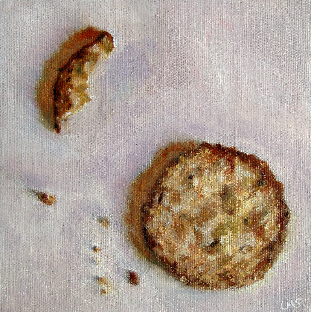 Cookie and Crumbs original fine art by Ulrike Miesen-Schuermann