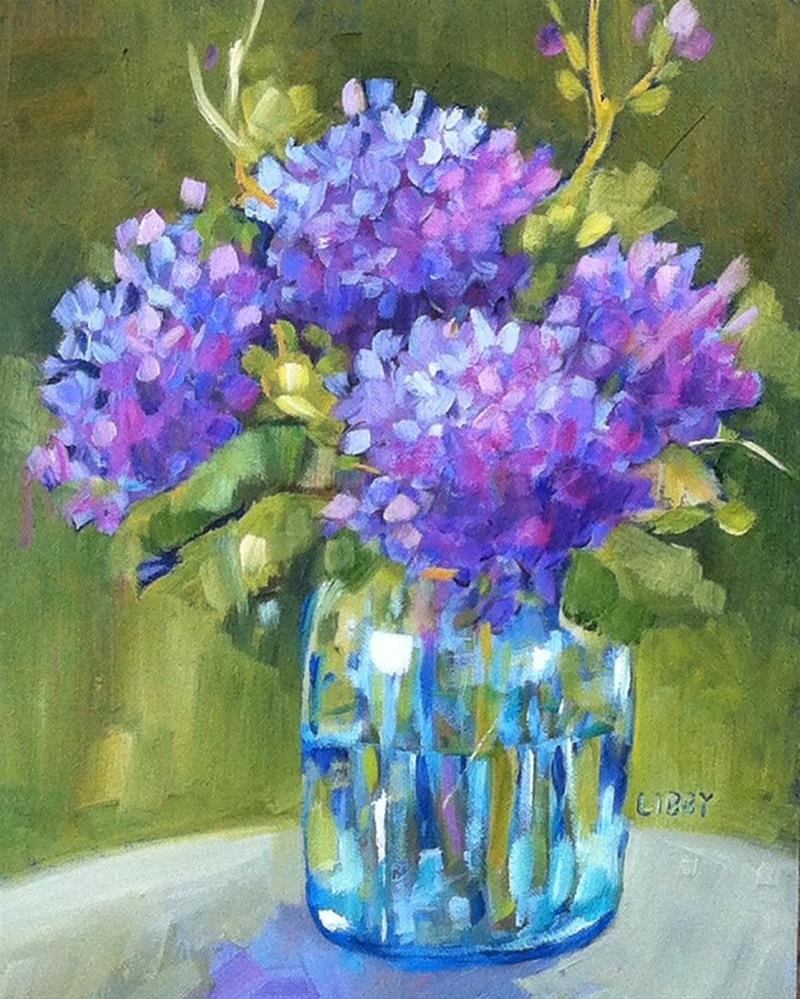 """Backyard Blooms"" original fine art by Libby Anderson"