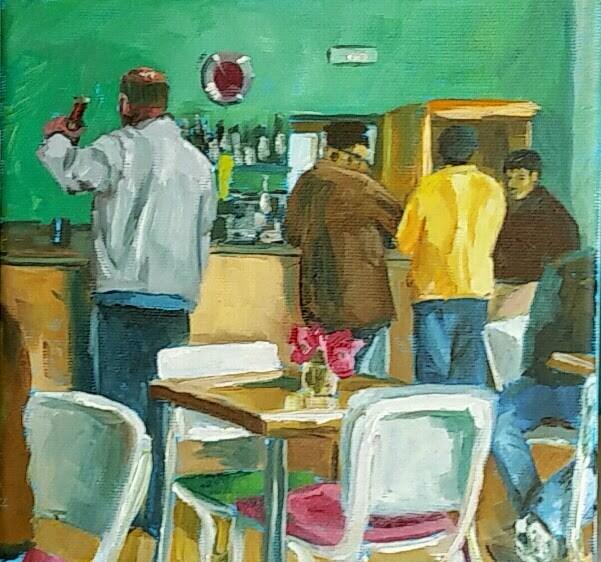 """Al Bar"" original fine art by Sabine Hüning"