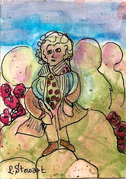 """ACEO The Little Prince, Le Petite Prince"" original fine art by Penny Lee StewArt"