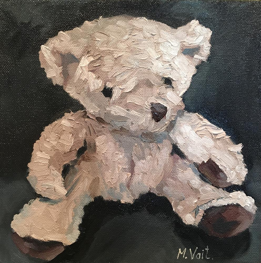"""Teddy bear II"" original fine art by Milda Vaitiekunaite"