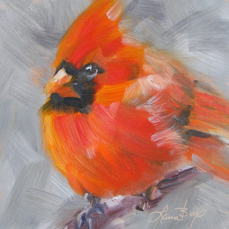 """Big Red - 348"" original fine art by Laura  Buxo"