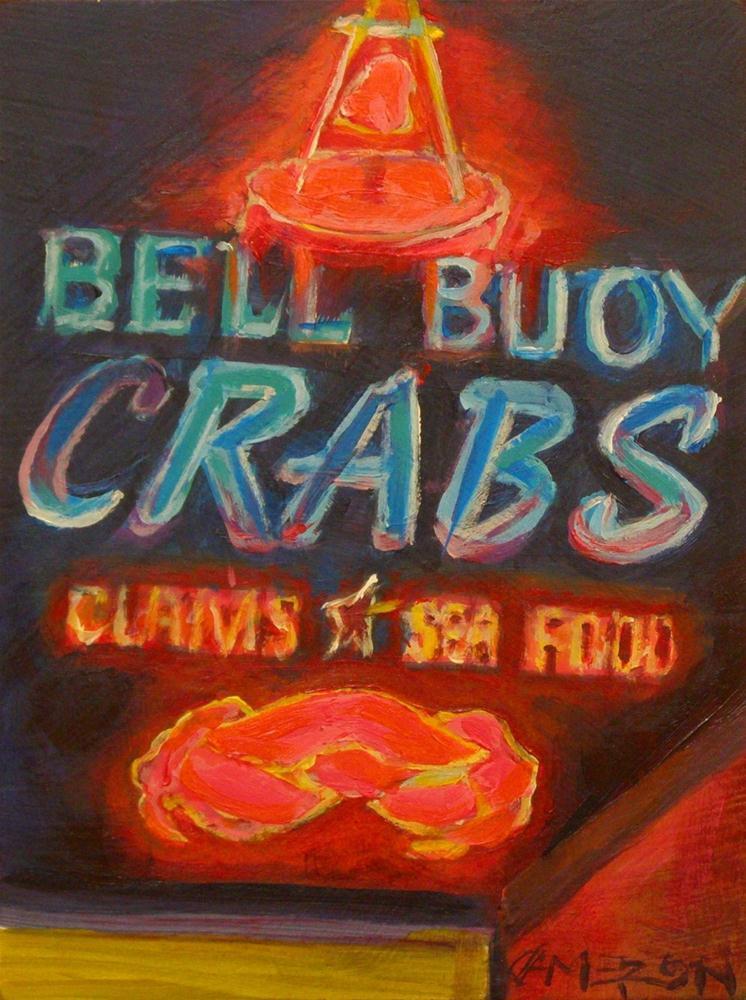 """NEON CRAB"" original fine art by Brian Cameron"