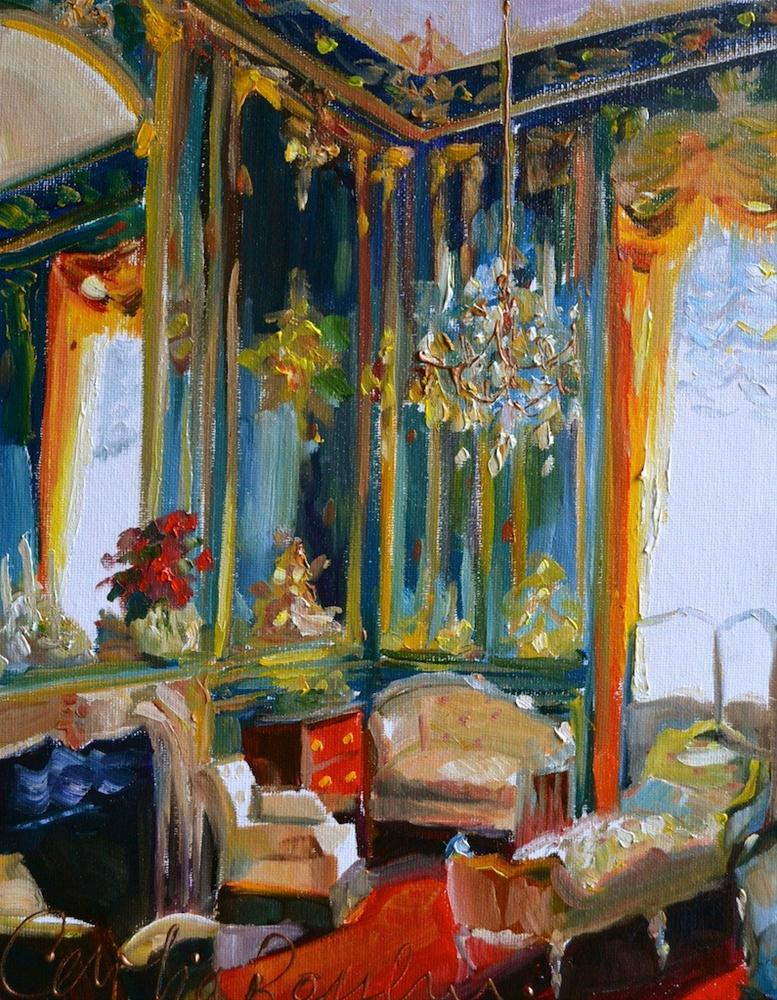 """DEUX CHAISES"" original fine art by Cecilia Rosslee"