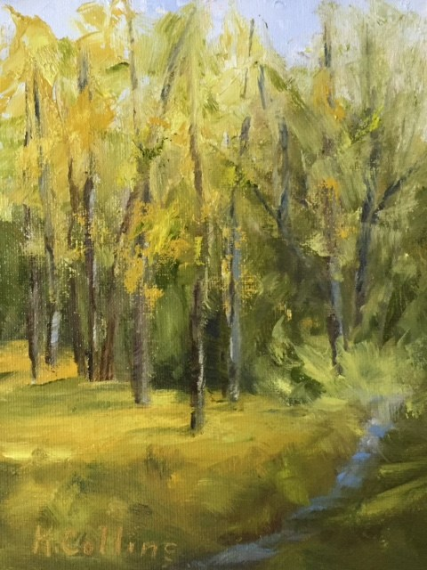 """Spring Woods"" original fine art by Kathy Collins"