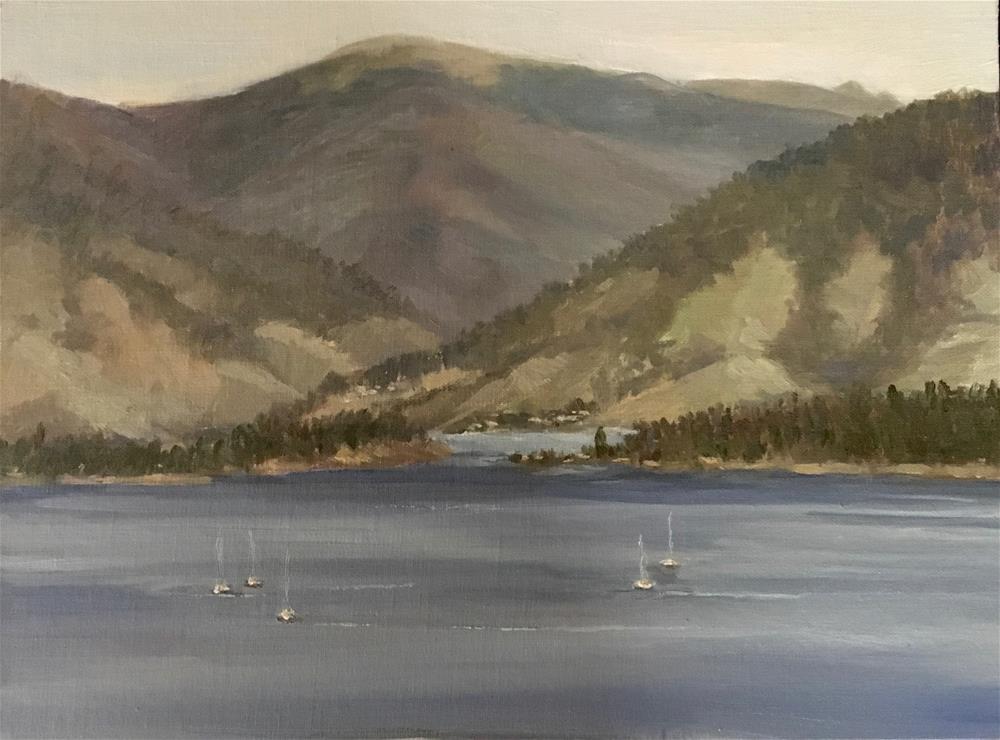 """Dillon Lake in Colorado"" original fine art by Nancy Wahl"