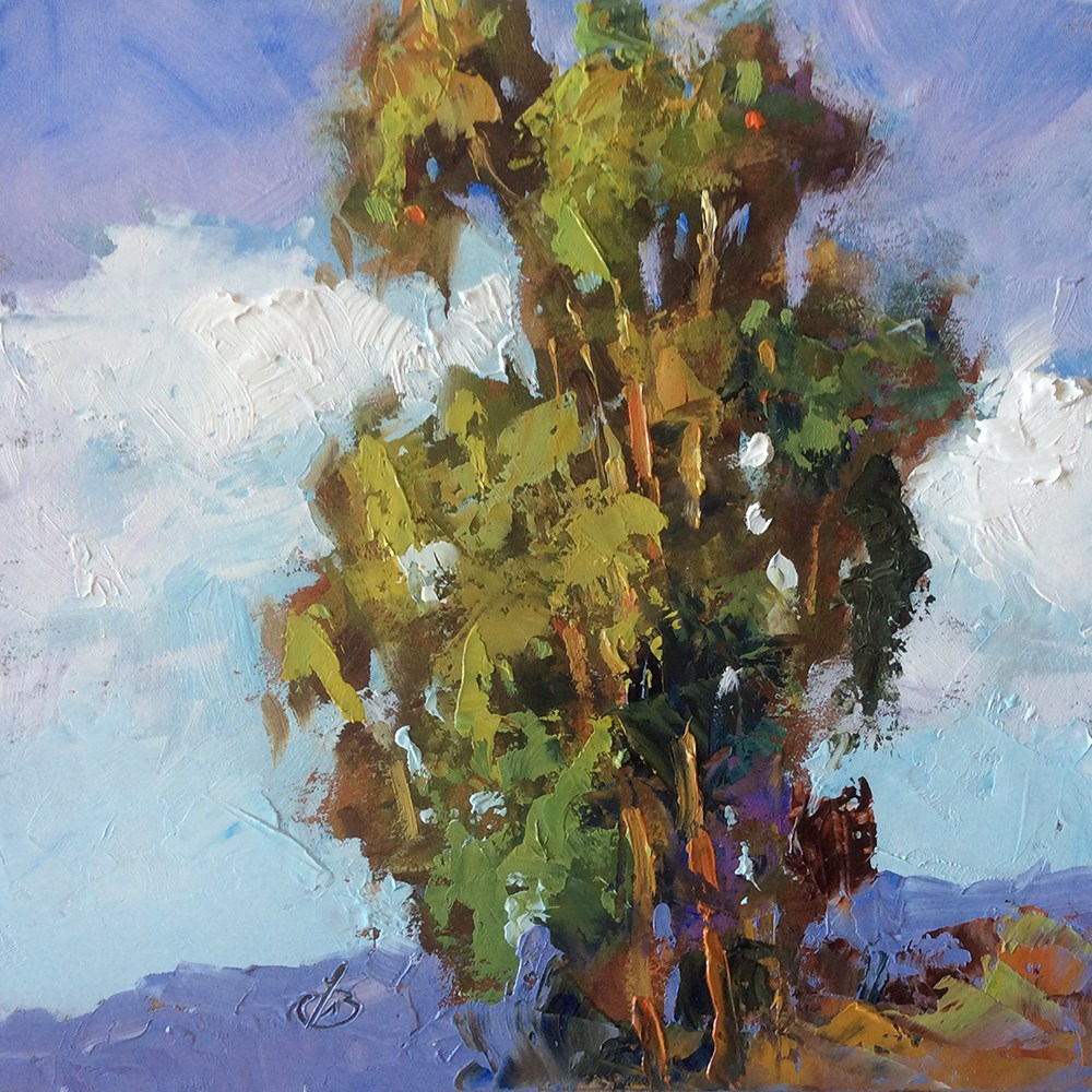 """STATELY EUCALYPTUS"" original fine art by Tom Brown"