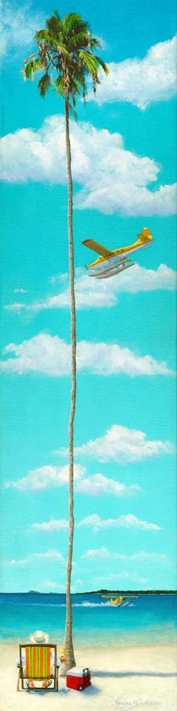 """""""Somewhere Beach"""" original fine art by Wendi Vann Johnson"""