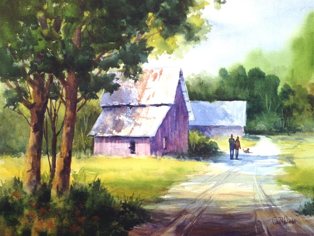 """Morning Stroll"" original fine art by Tina Bohlman"