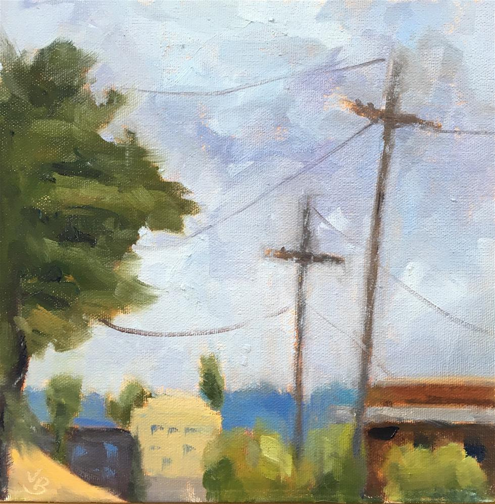 """View from a Parking Lot"" original fine art by Victoria  Biedron"