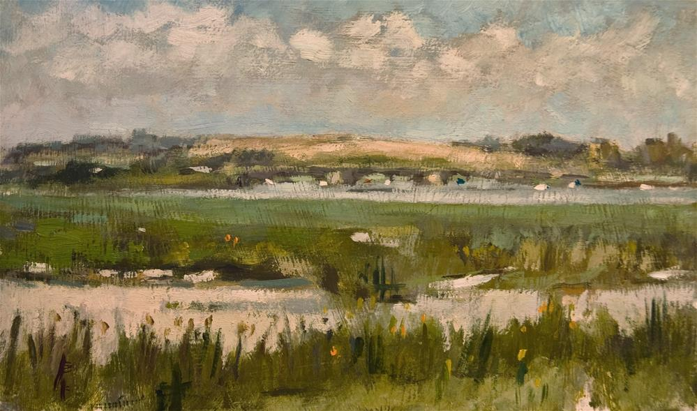"""The Bridge at Shoreham by Sea"" original fine art by Andre Pallat"